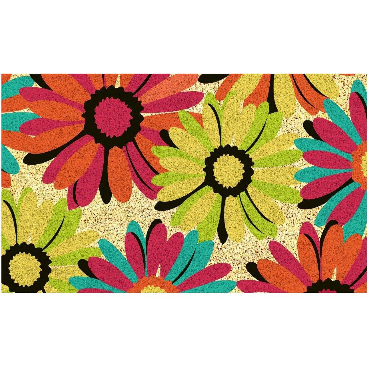 Multicolor Floral Doormat